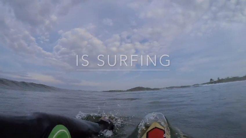 Pietro Snowboard is surfing